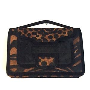Pierre Hardy Hairy Calf Bag CV04 Top Handle Clutch